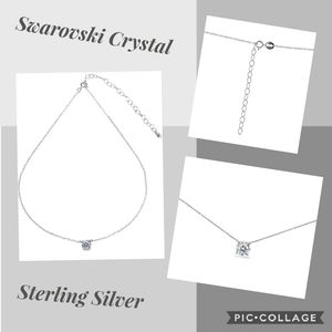 💎Sterling Silver Choker Necklace with  Swarovski